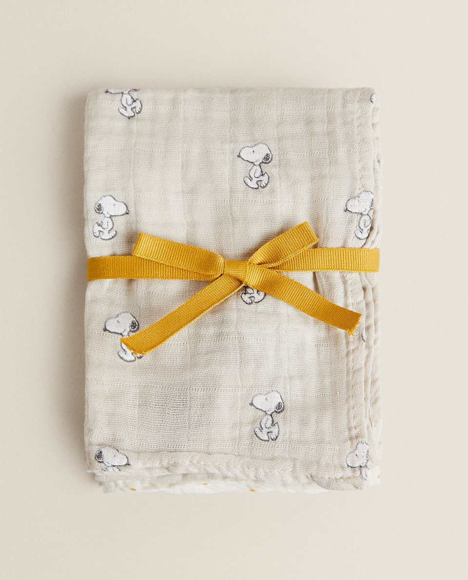 SNOOPY MUSLINS (PACK OF 2)