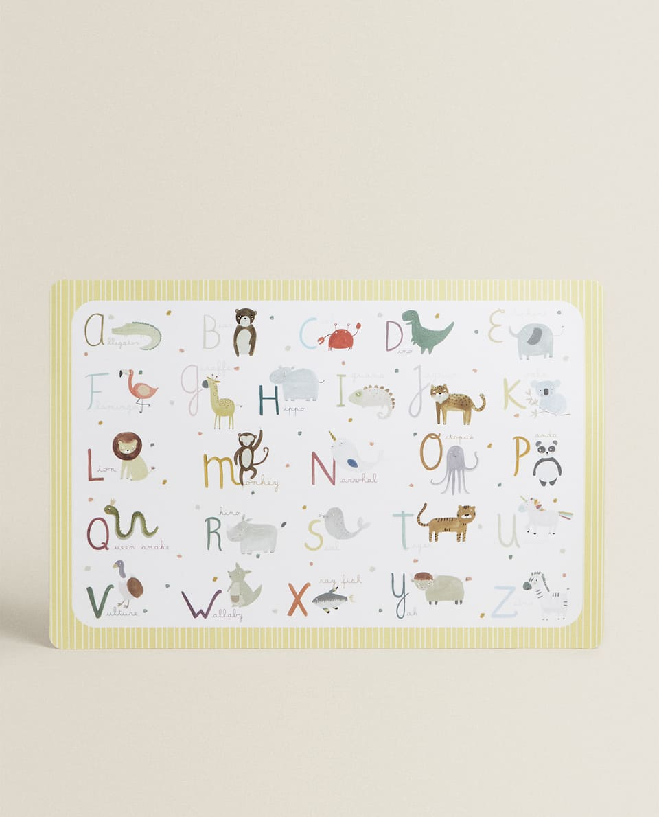 SET DE TABLE LETTRES