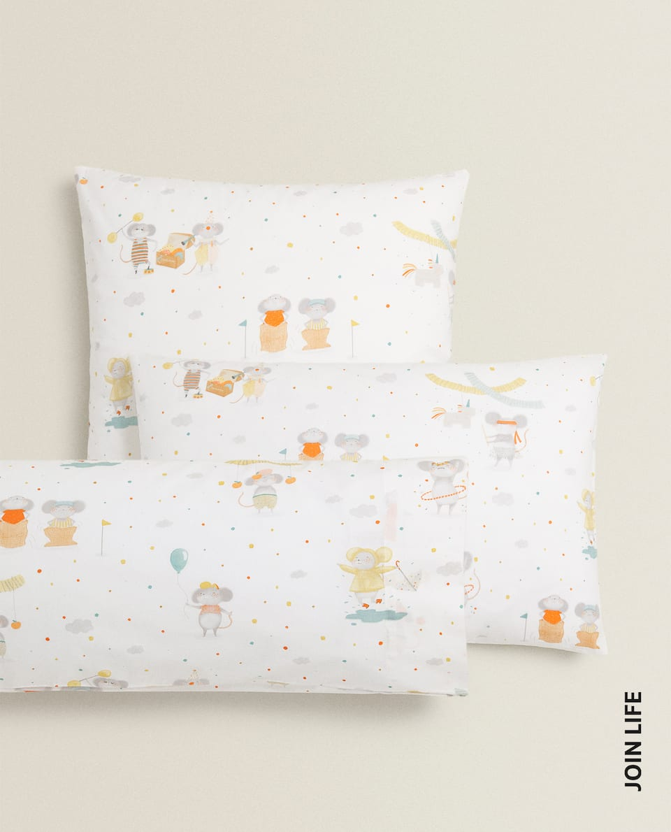 LITTLE MICE PARTY PILLOWCASE