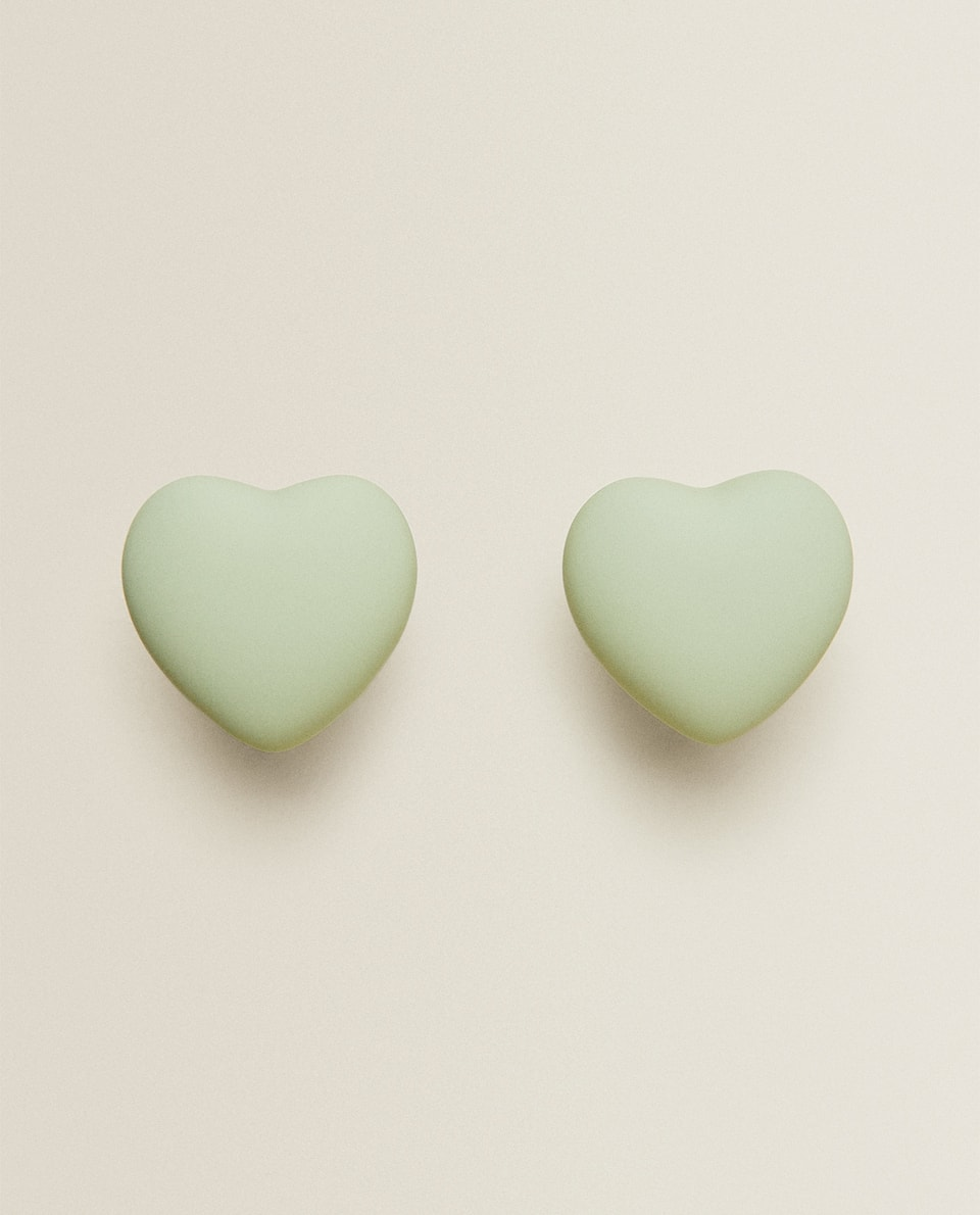 GREEN HEART DOOR KNOB (PACK OF 2)
