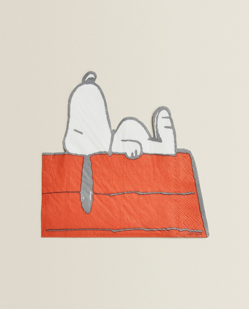 SNOOPY-SHAPED PAPER NAPKINS (PACK OF 20)