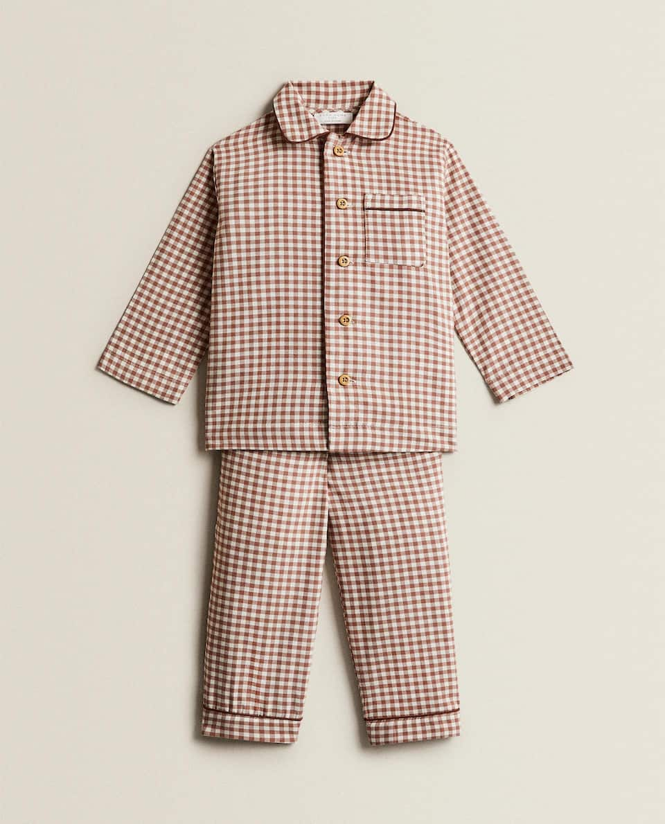 GINGHAM COTTON PYJAMAS