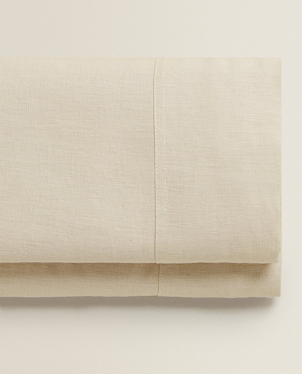 (140 GSM) WASHED LINEN FLAT SHEET
