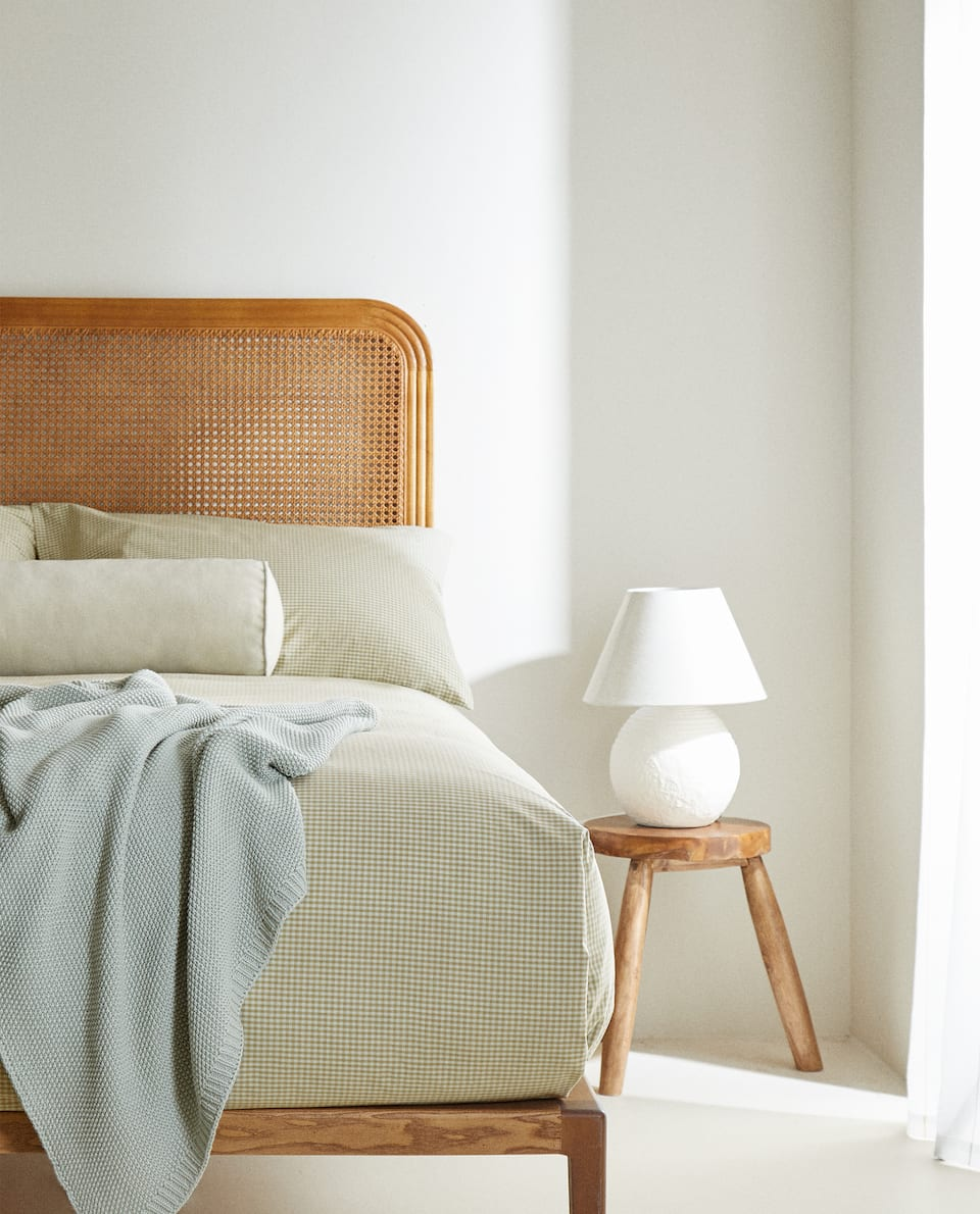 DYED THREAD PERCALE DUVET COVER