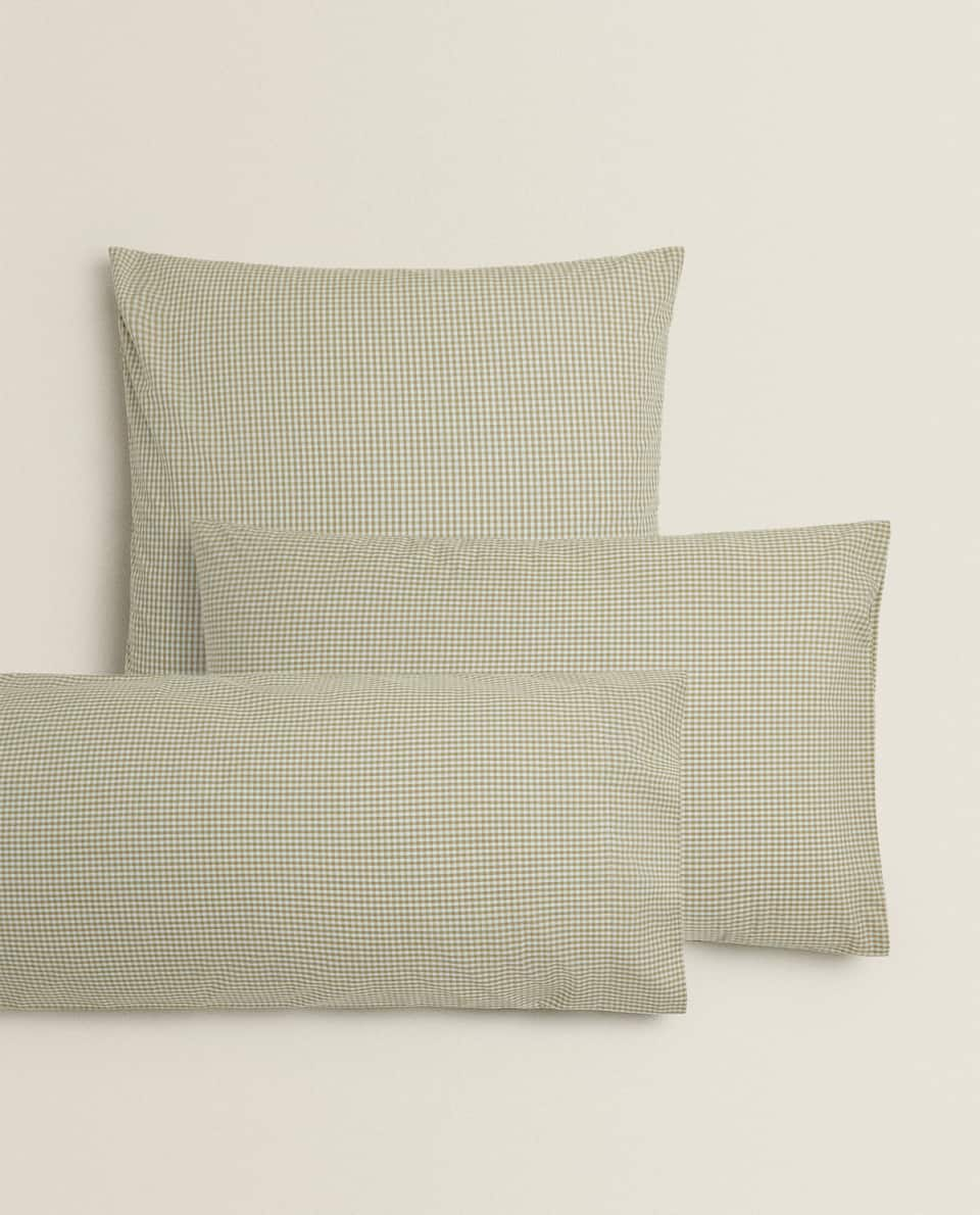 DYED THREAD PERCALE PILLOWCASE