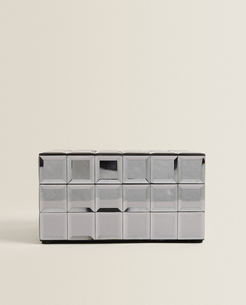 MIRRORED SQUARES BOX