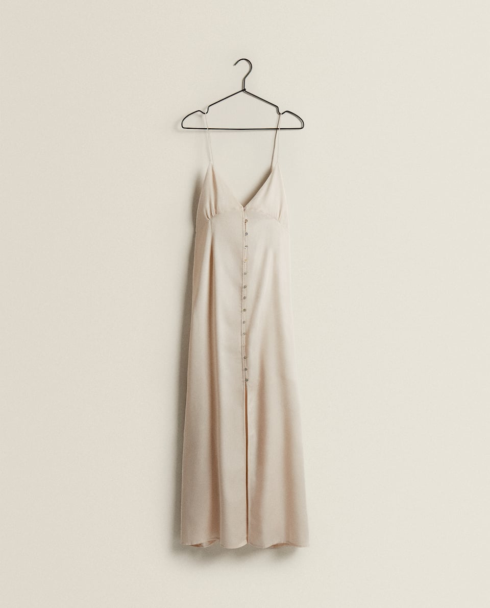 SATEEN NIGHTDRESS WITH BUTTONS
