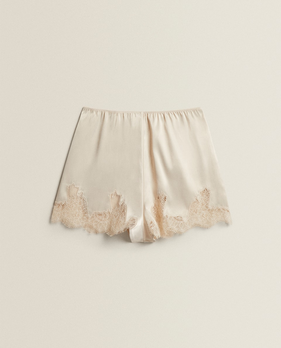 SATIN-EFFECT SHORTS