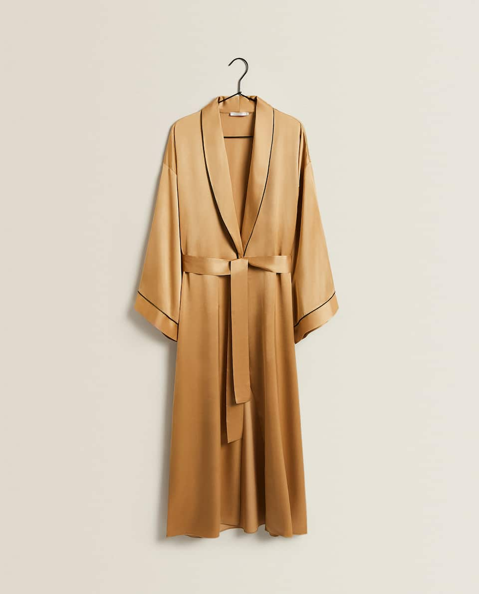SATEEN DRESSING GOWN