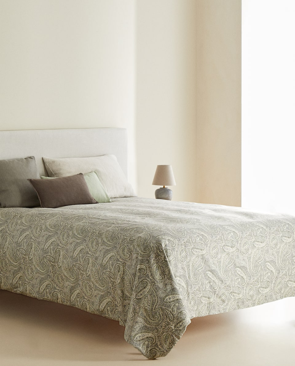 (300 THREAD COUNT) SATEEN PAISLEY DUVET COVER