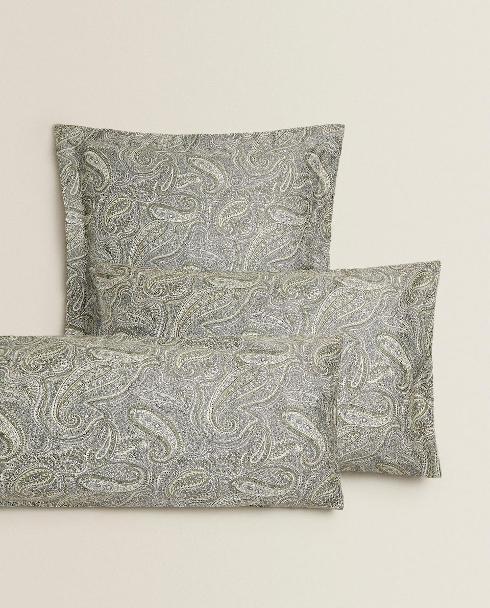 (300 THREAD COUNT) SATEEN PAISLEY PILLOWCASE