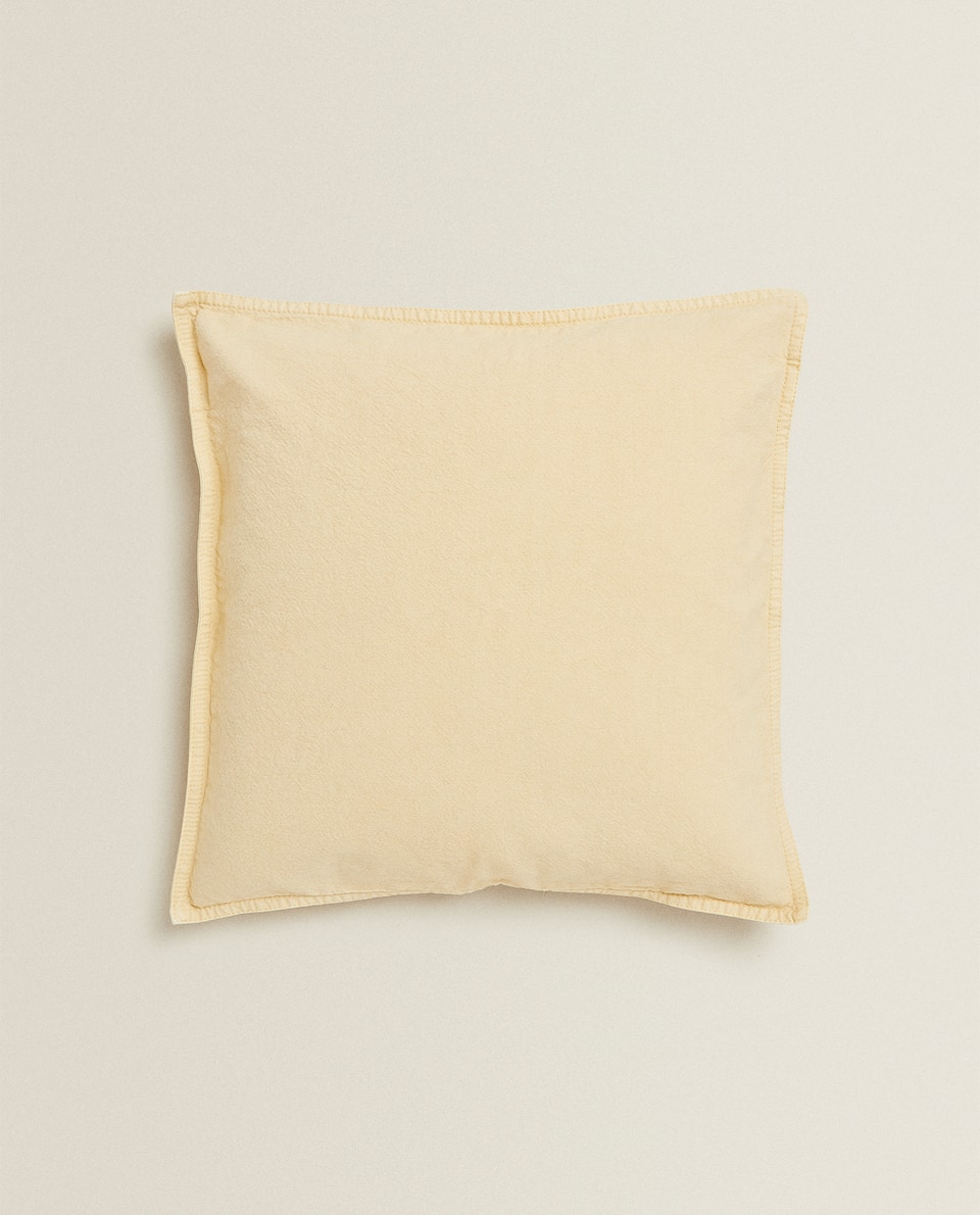 TOPSTITCHED THROW PILLOW