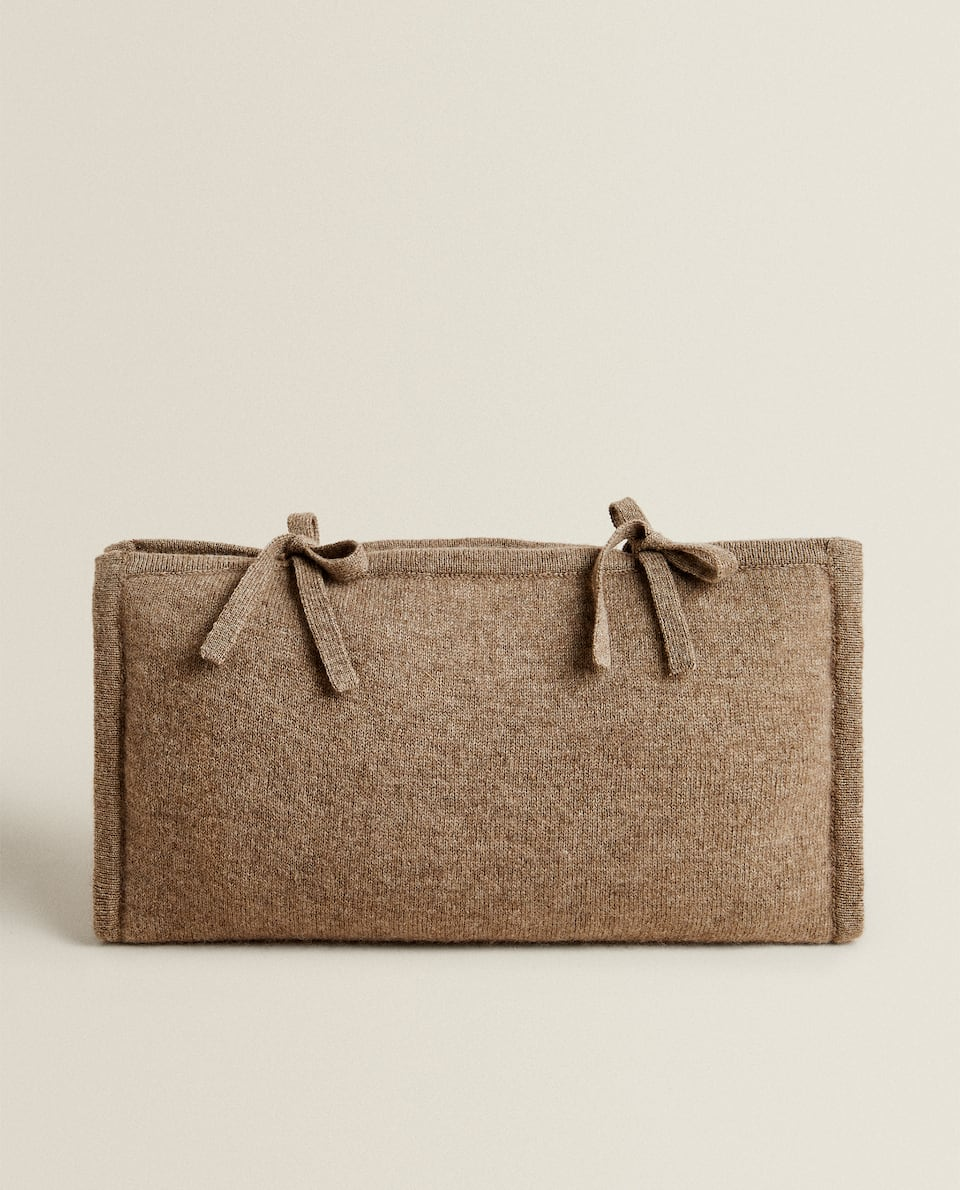 CASHMERE TRAVEL TOILETRY BAG