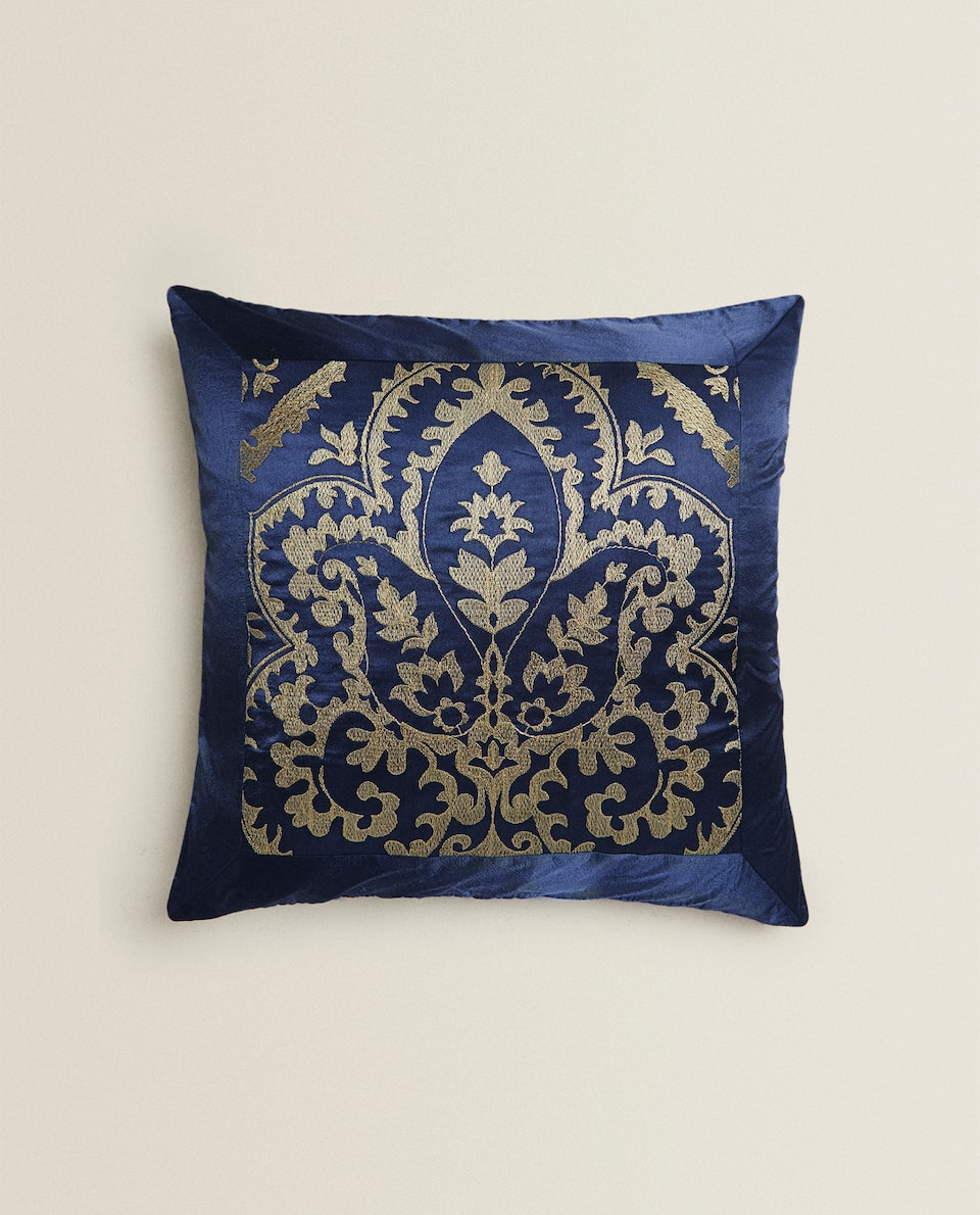 ALL-OVER EMBROIDERED CUSHION COVER