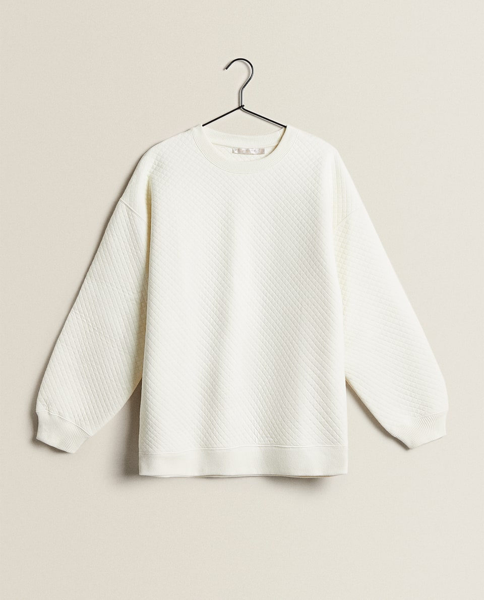 QUILTED EFFECT SWEATSHIRT