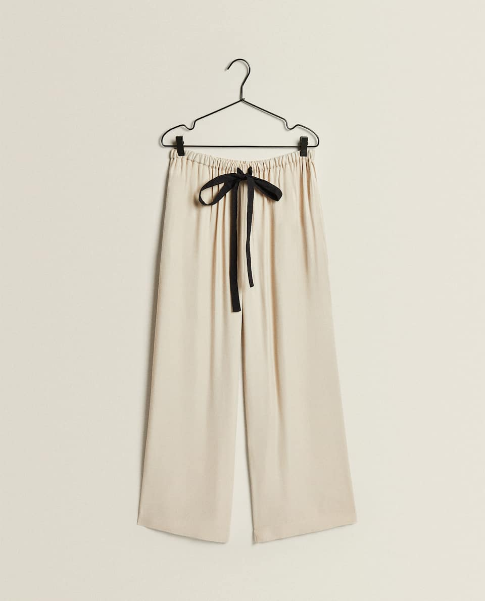 FLOWING SATEEN TROUSERS