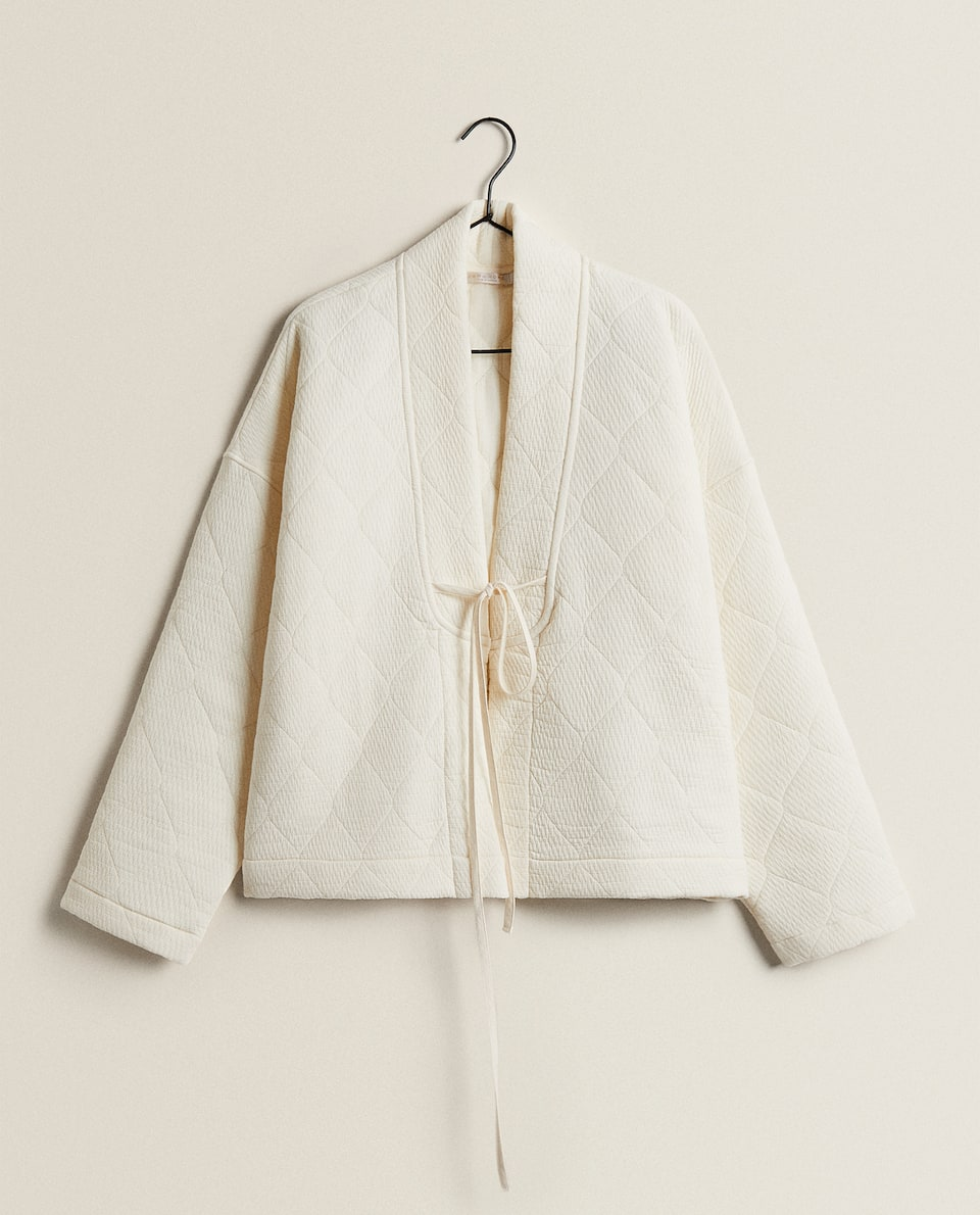 QUILTED EFFECT KIMONO