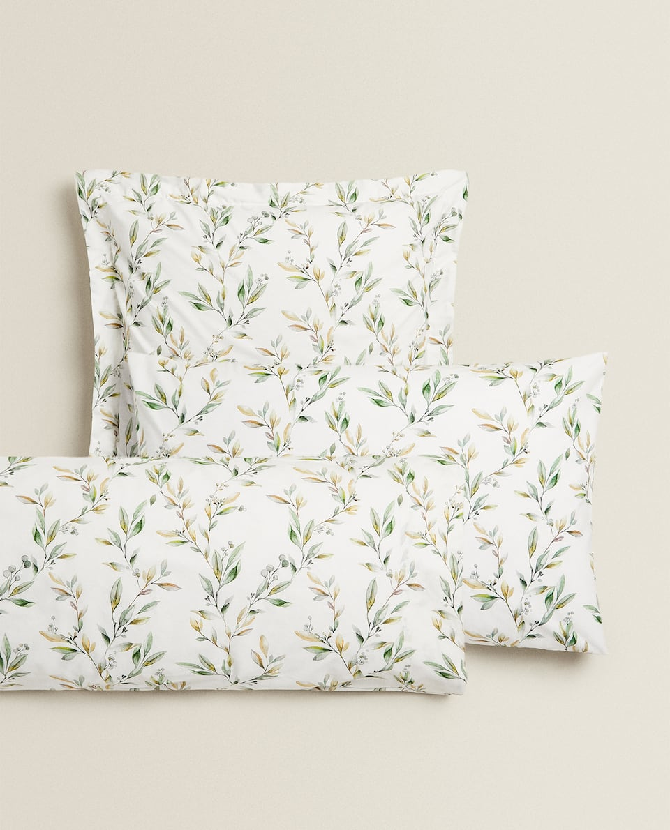 OLIVE PRINT PILLOWCASE