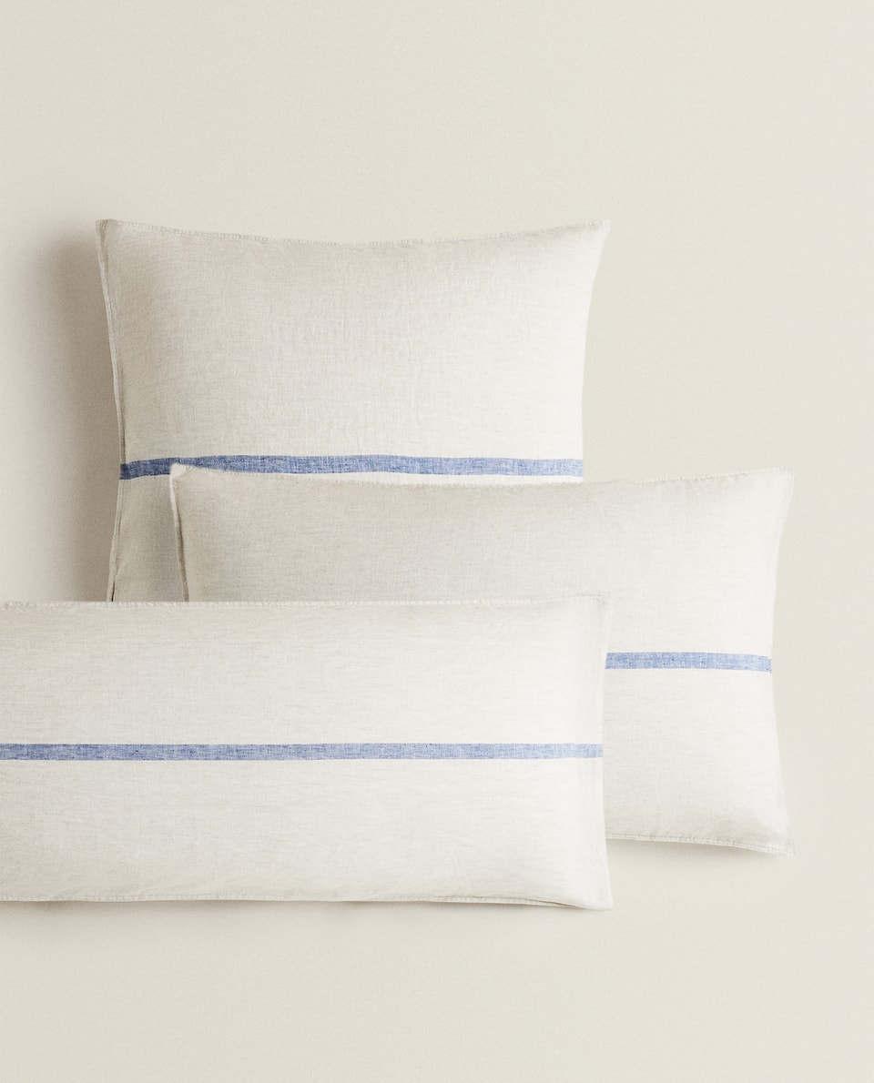 LINEN PILLOWCASE WITH STRIPE