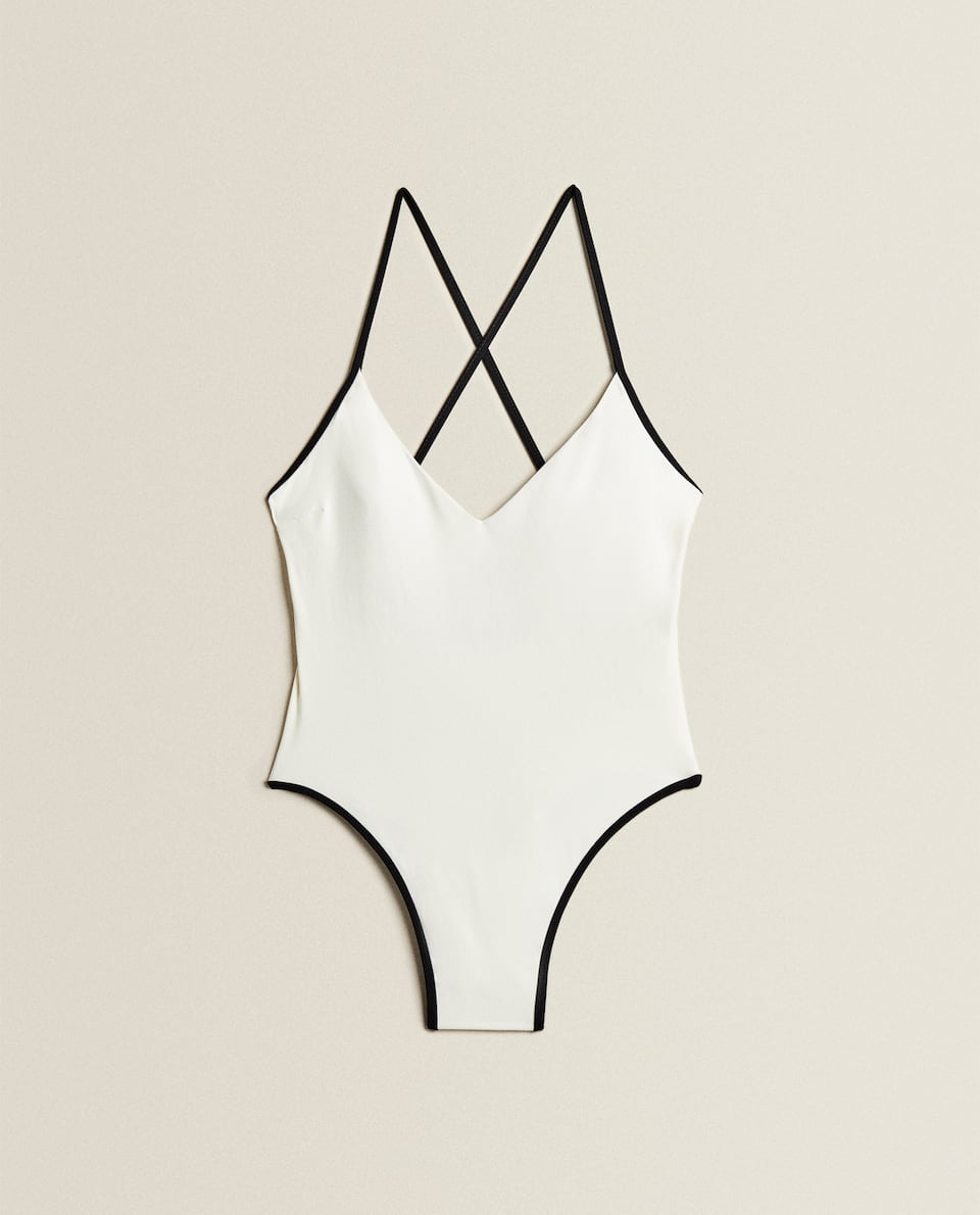 SWIMSUIT WITH CONTRAST TRIMS