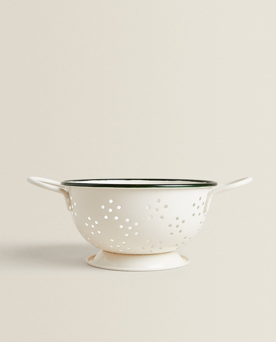 MINI COLANDER WITH GREEN EDGE