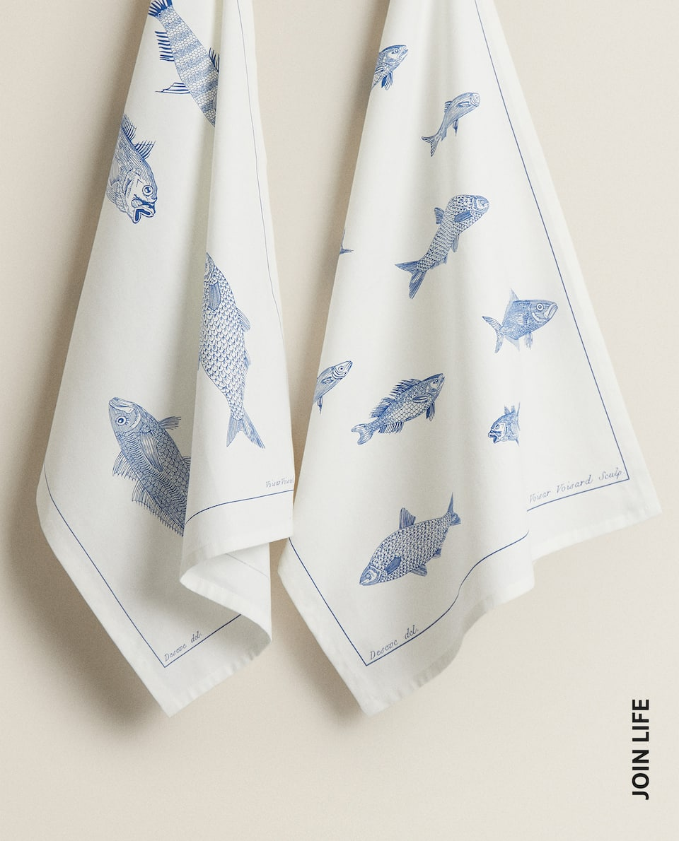 FISH TEA TOWEL (PACK OF 2)