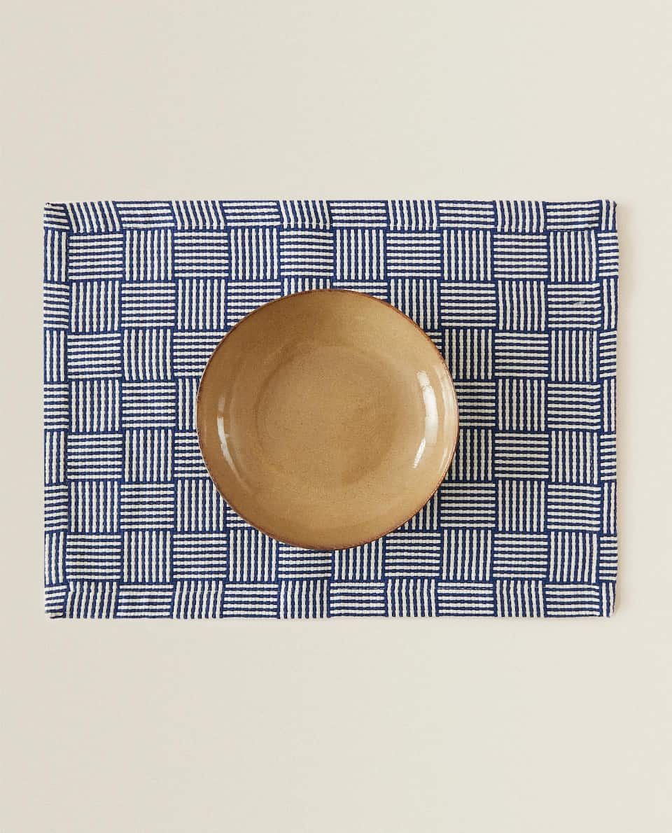 STRIPED AND CHECKED PLACEMAT (PACK OF 2)