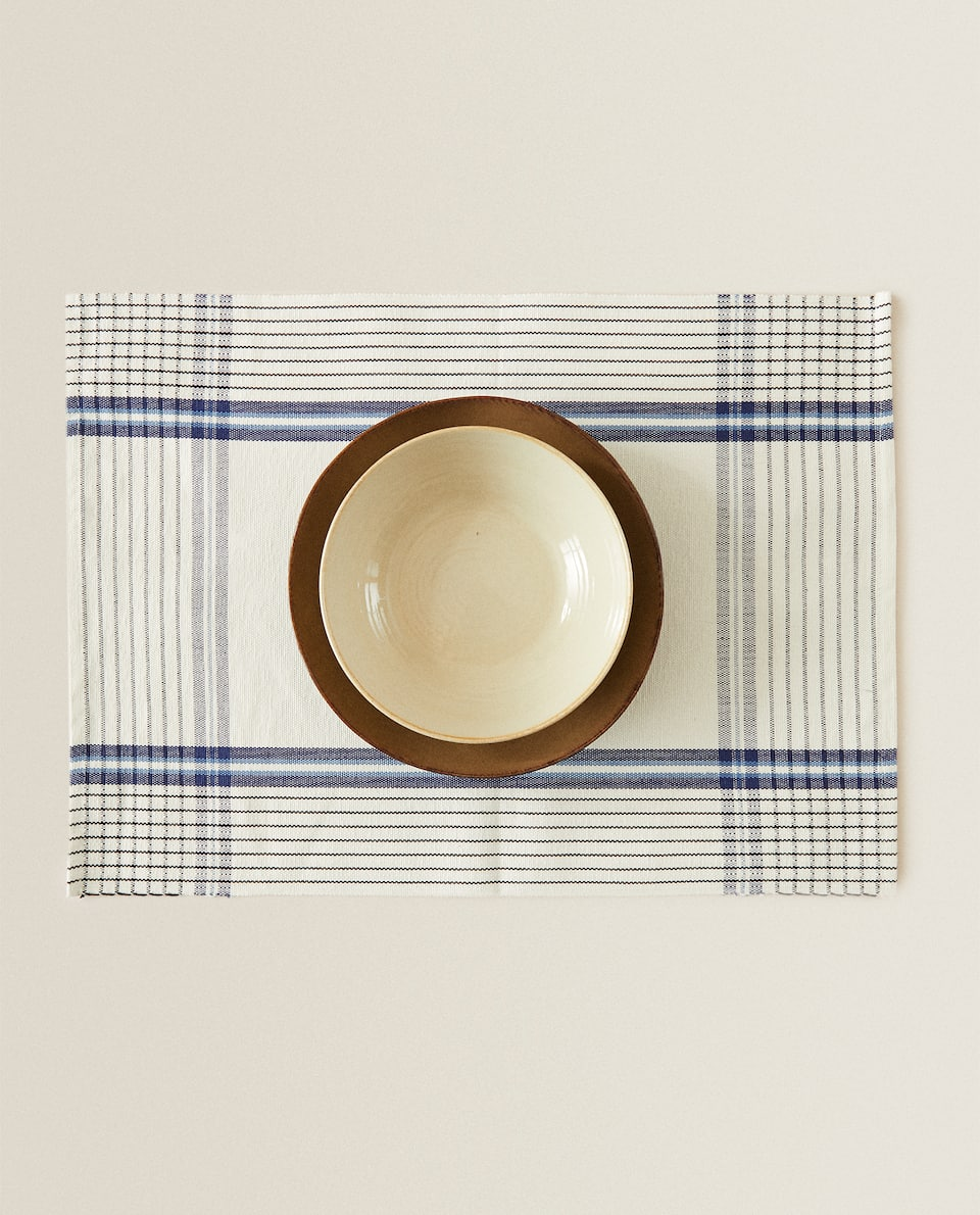 STRIPED COTTON PLACEMAT (PACK OF 2)