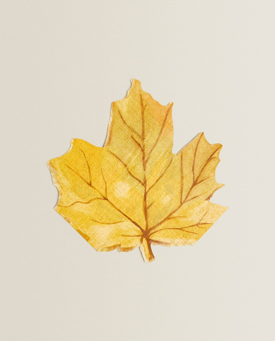 LEAF-SHAPED PAPER NAPKINS (PACK OF 20)