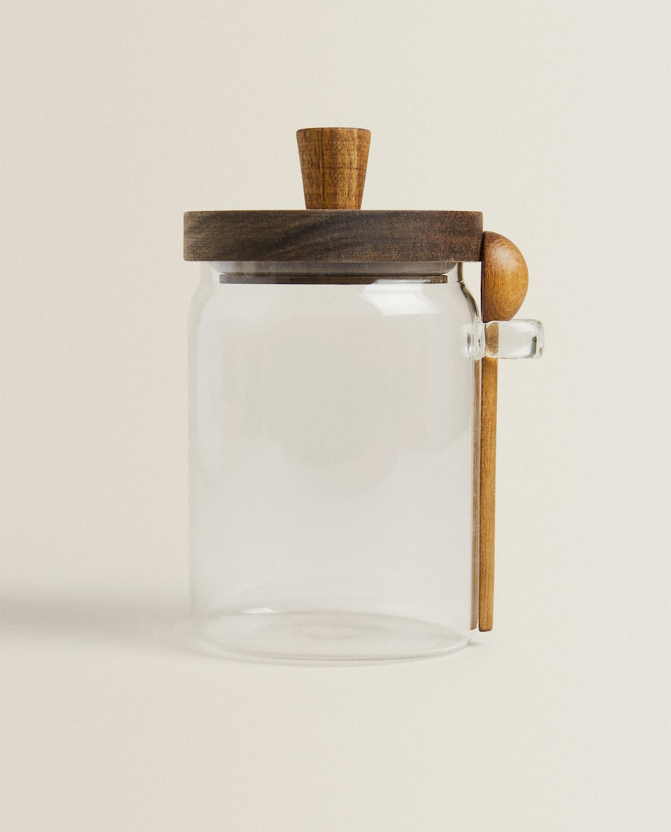 BOROSILICATE GLASS JAR AND SPOON