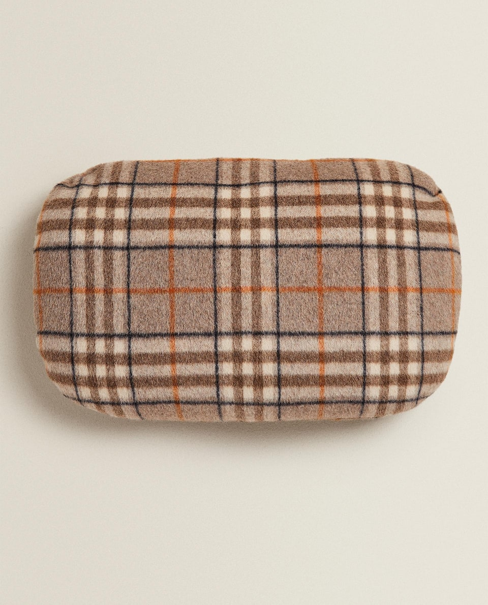 SMALL CHECK CUSHION