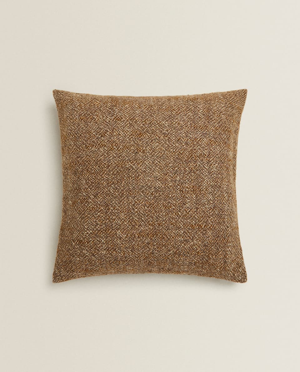 FLECKED WOOL CUSHION COVER