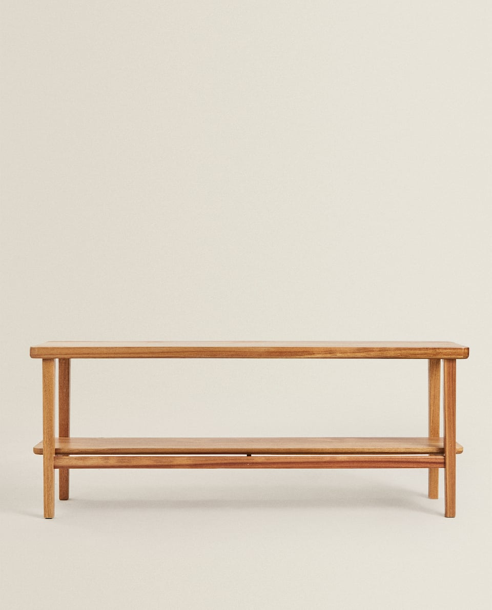 LONG ACACIA WOOD BENCH