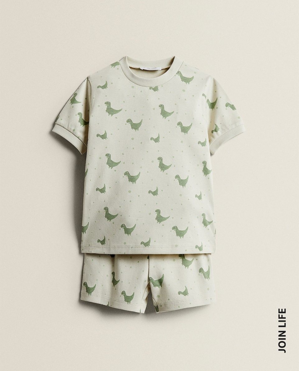 SET OF DINOSAUR PYJAMAS