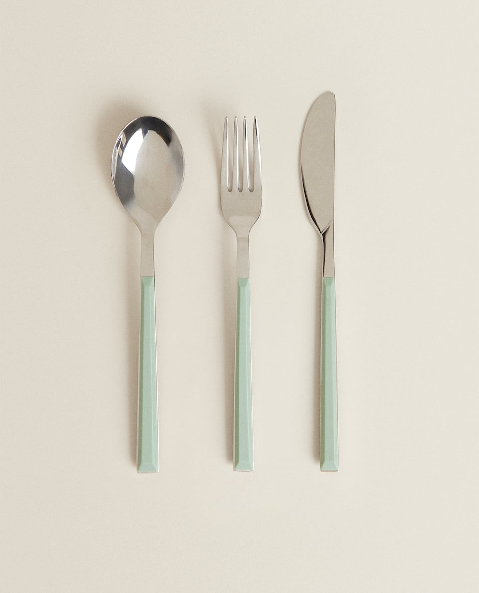 COLOURED CHILDREN'S CUTLERY SET
