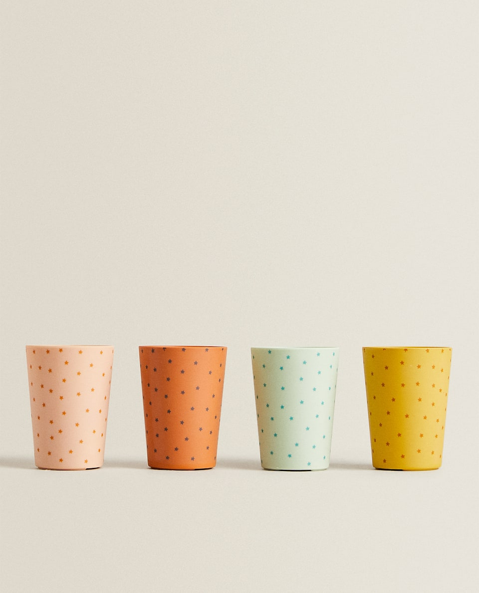 MATTE MELAMINE GLASSES (PACK OF 4)