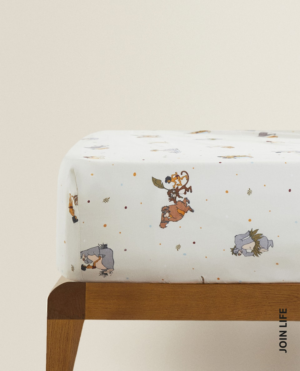 JUNGLE BOOK FITTED SHEET