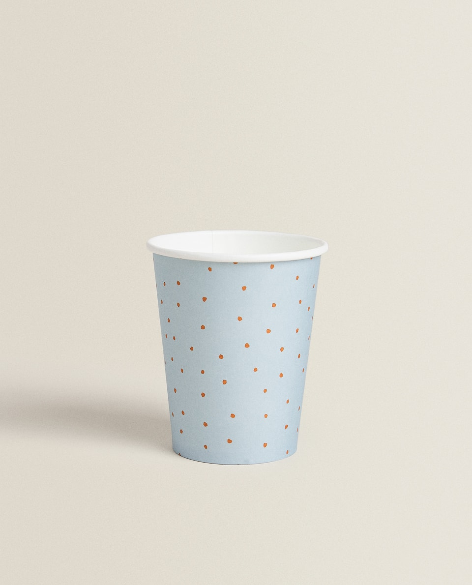 POLKA DOT PAPER CUP (PACK OF 12)