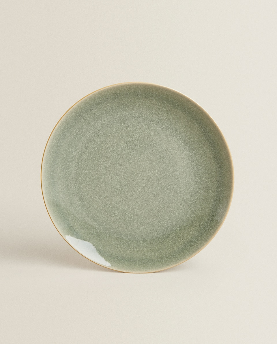 REACTIVE-EFFECT STONEWARE DINNER PLATE