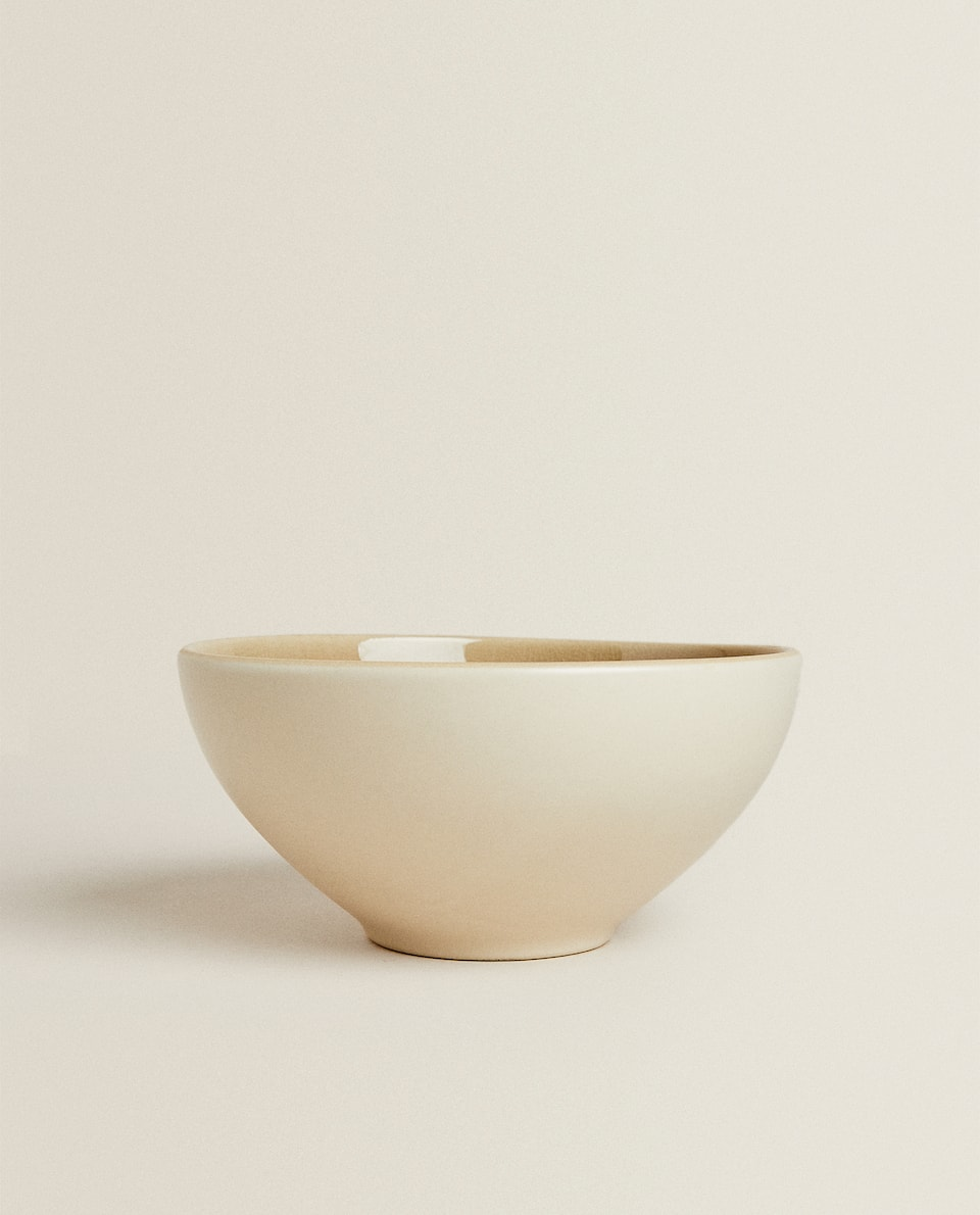 GLAZED-EFFECT STONEWARE BOWL