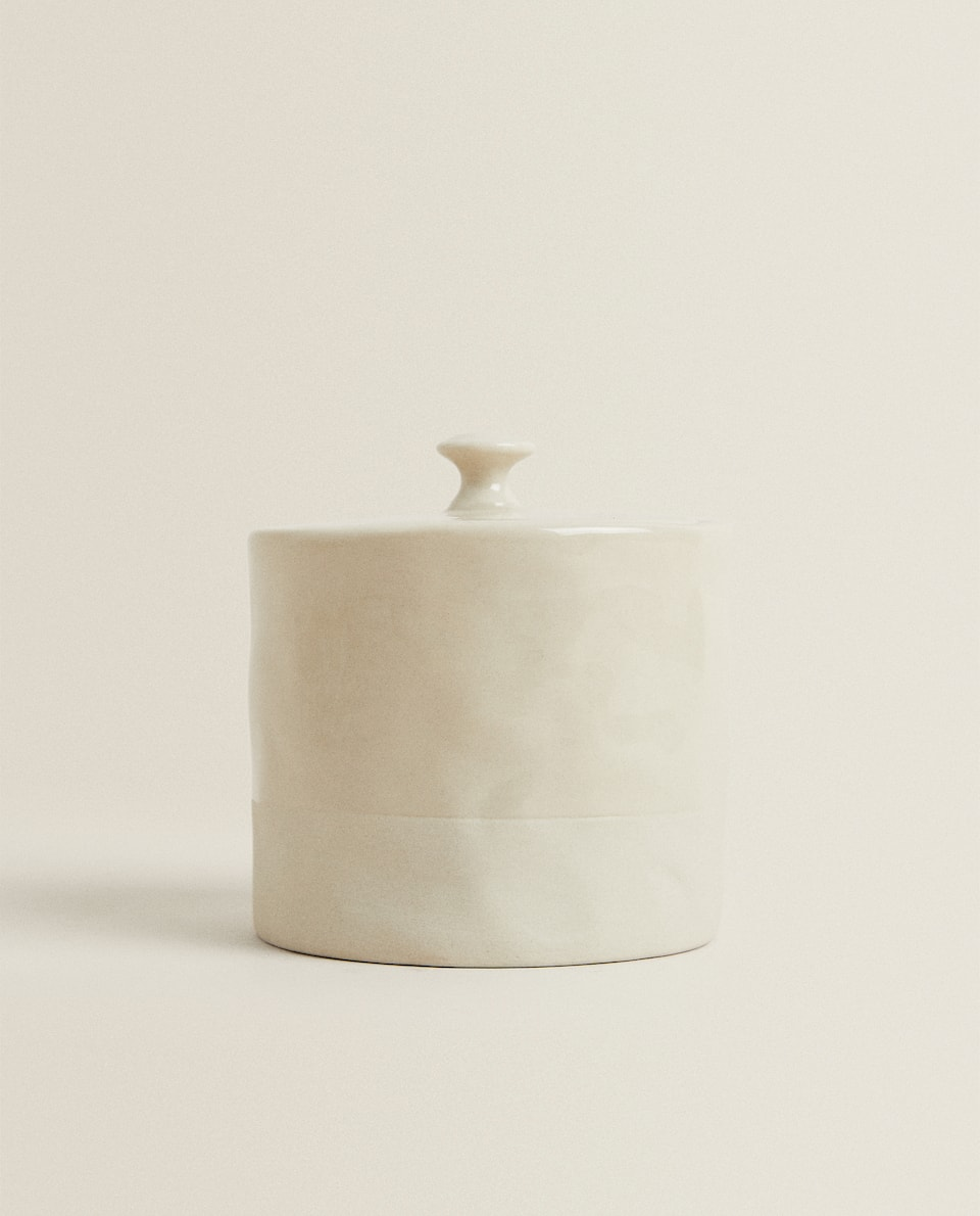IRREGULAR PORCELAIN SUGAR BOWL