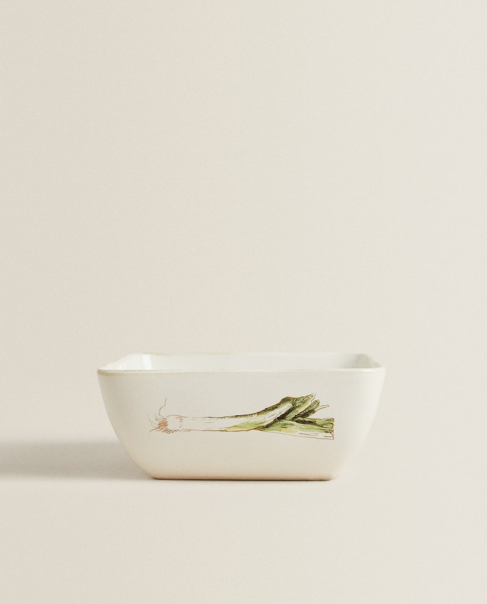 VEGETABLE STONEWARE BOWL