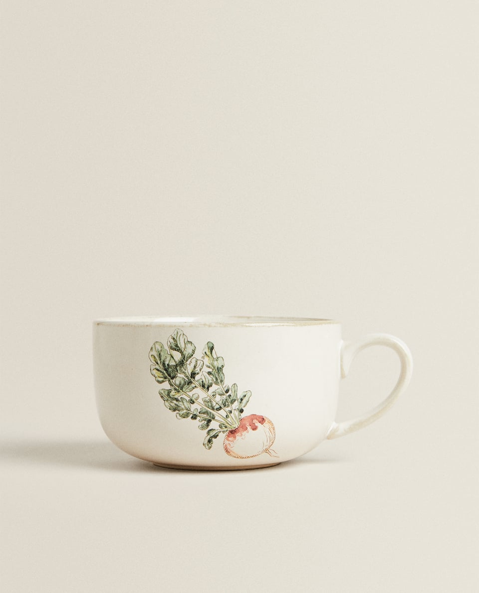 VEGETABLE STONEWARE MUG
