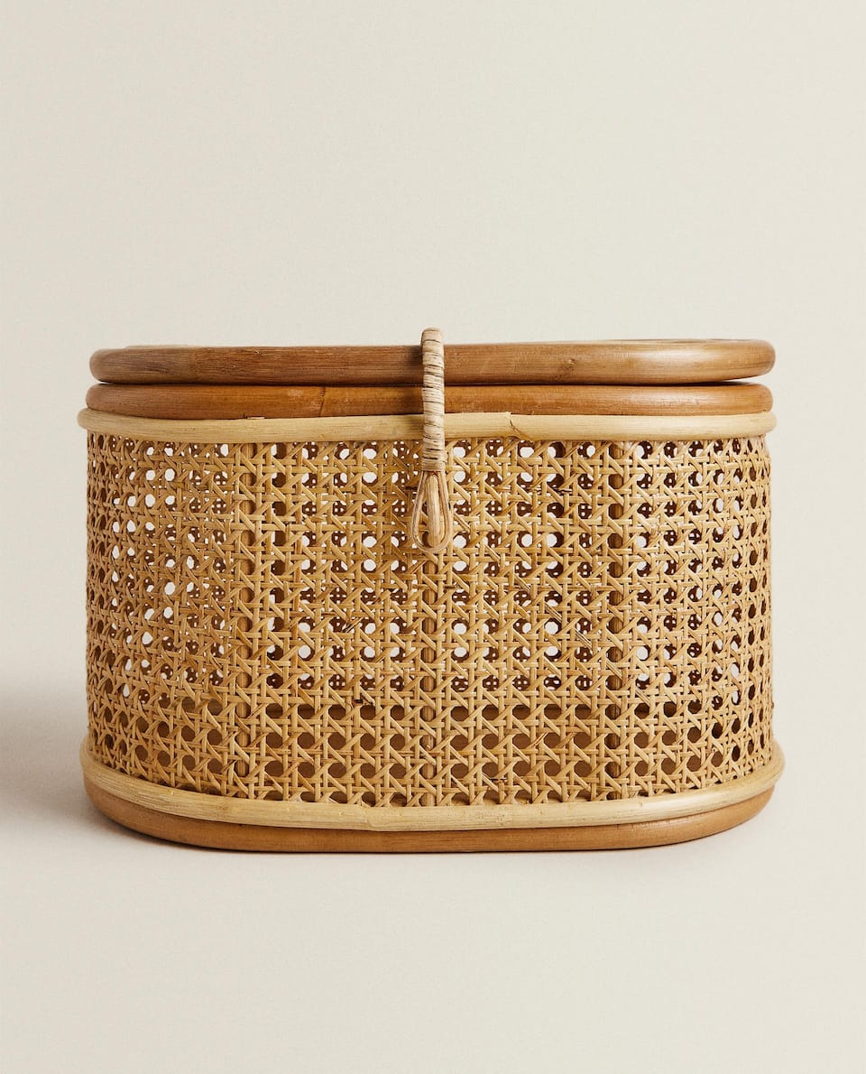 SMALL RATTAN BASKET