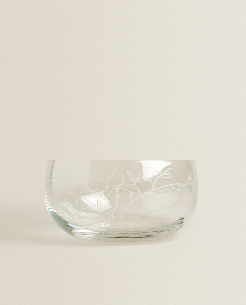 CUT GLASS CRYSTALLINE BOWL
