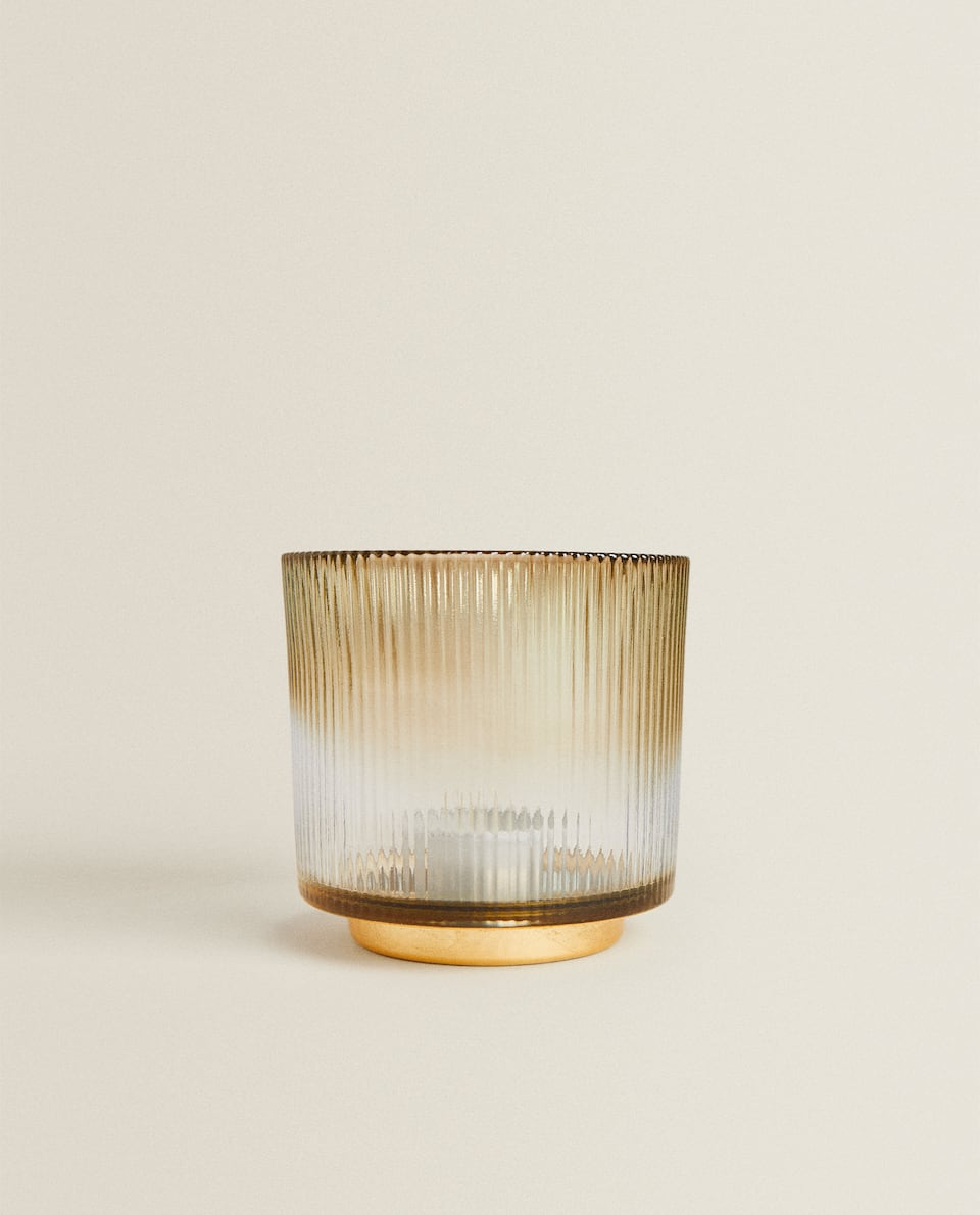 GOLD LEAF TEALIGHT HOLDER