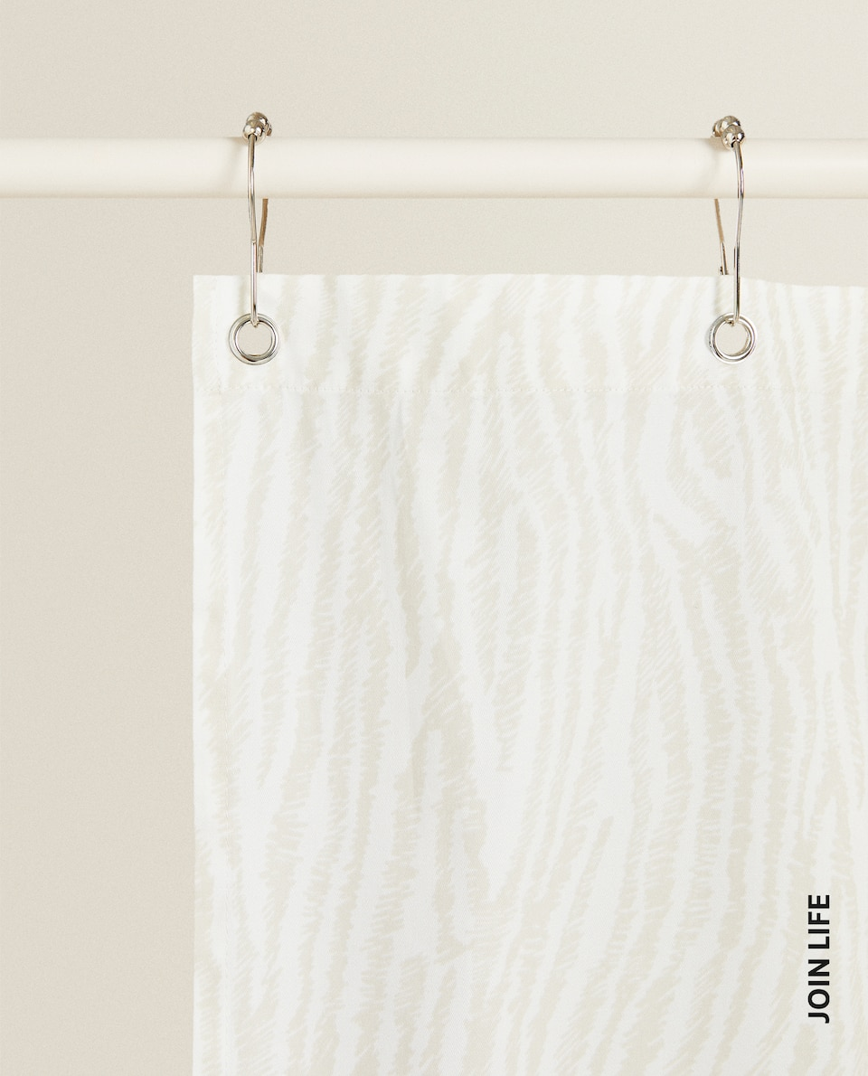 ANIMAL PRINT SHOWER CURTAIN