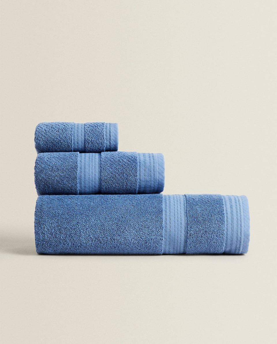 COTTON TOWEL WITH BORDER