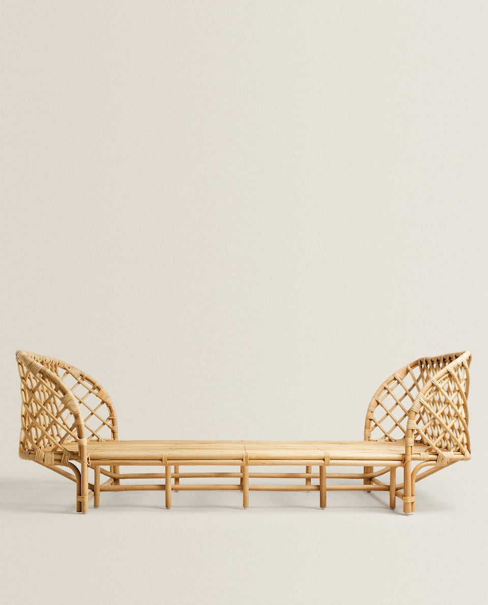 KIDS' RATTAN BED FRAME
