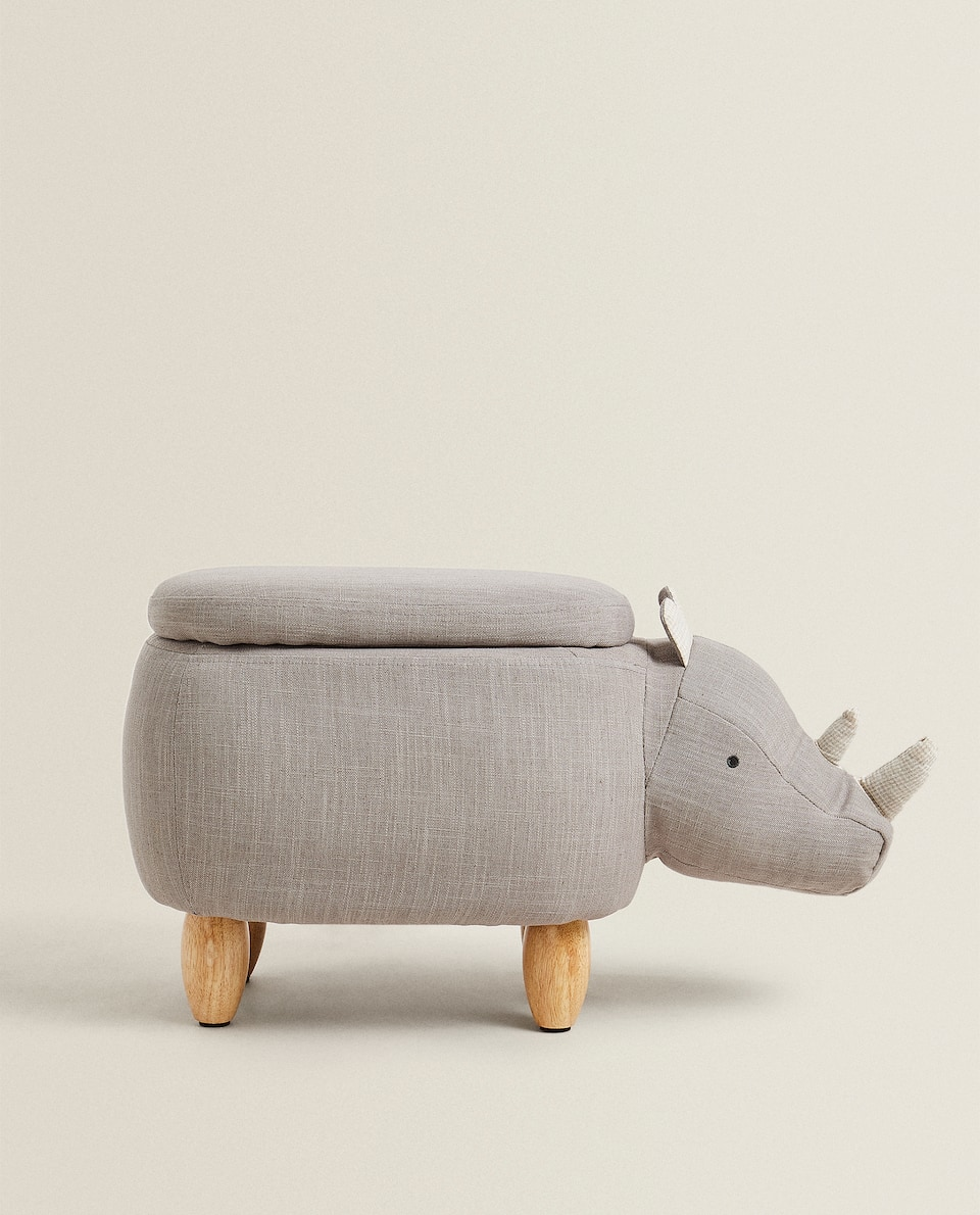 RHINOCEROS STOOL WITH STORAGE